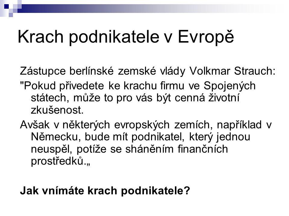 Krach podnikatele v Evropě