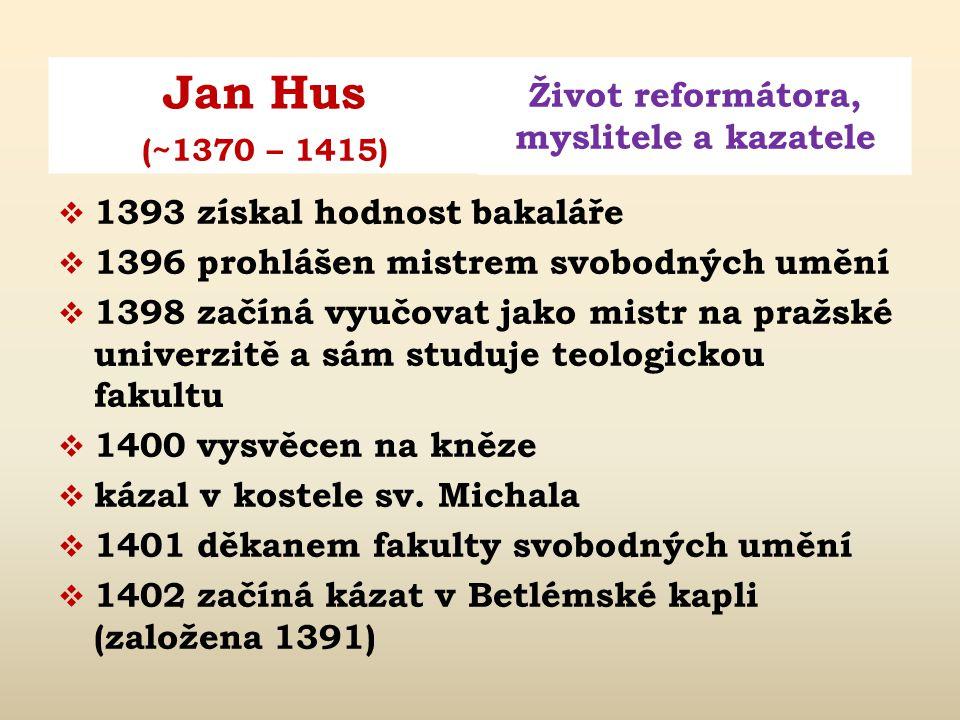 1393 získal hodnost bakaláře