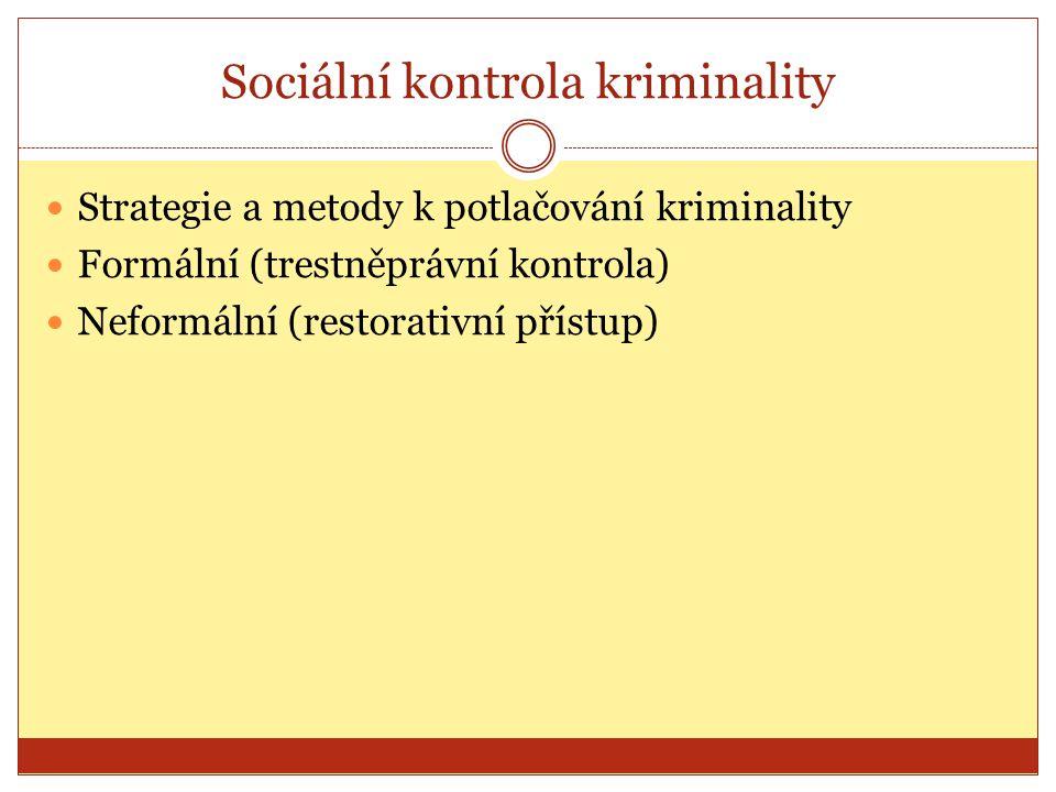 Sociální kontrola kriminality