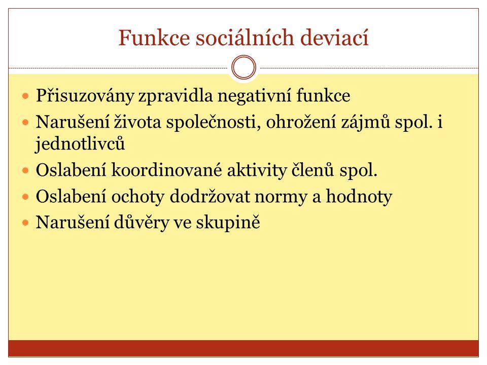 Funkce sociálních deviací