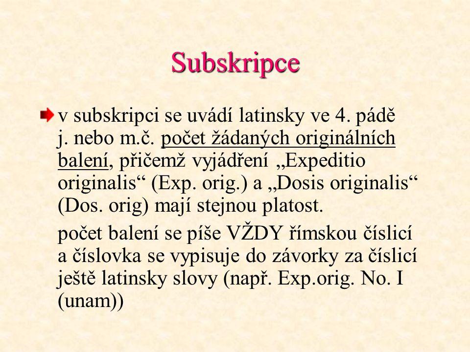Subskripce