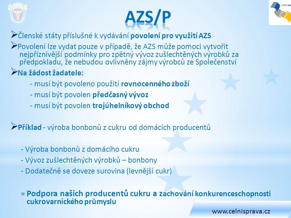 AZS/P Členské státy příslušné k vydávání povolení pro využití AZS