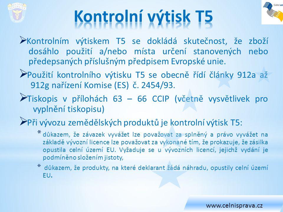 www.celnisprava.cz Kontrolní výtisk T5.