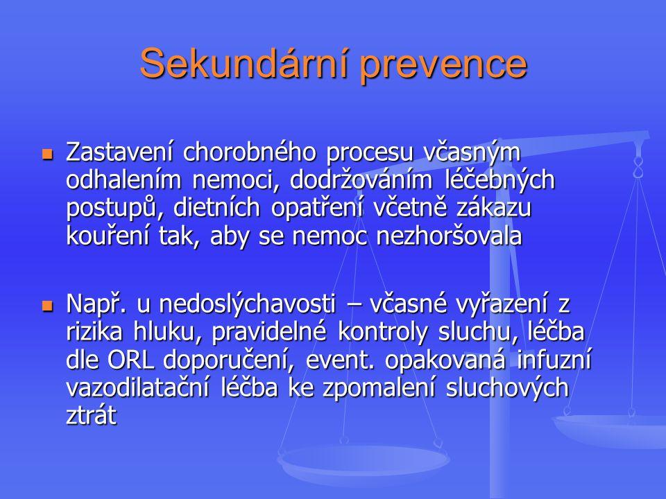 Sekundární prevence