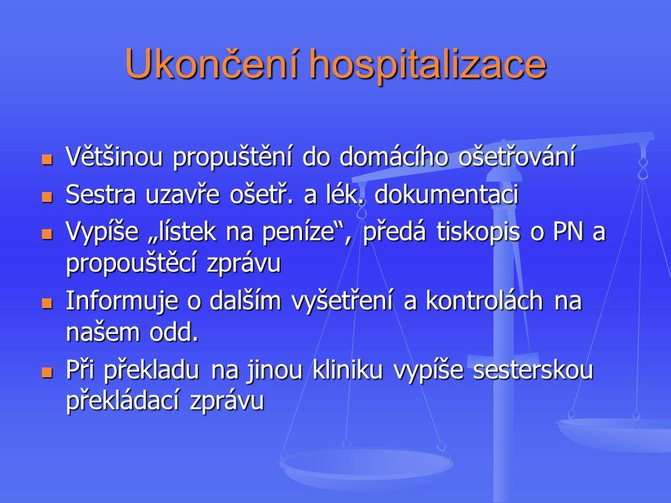Ukončení hospitalizace