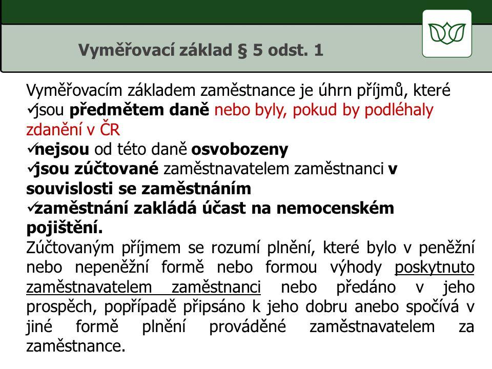 Vyměřovací základ § 5 odst. 1