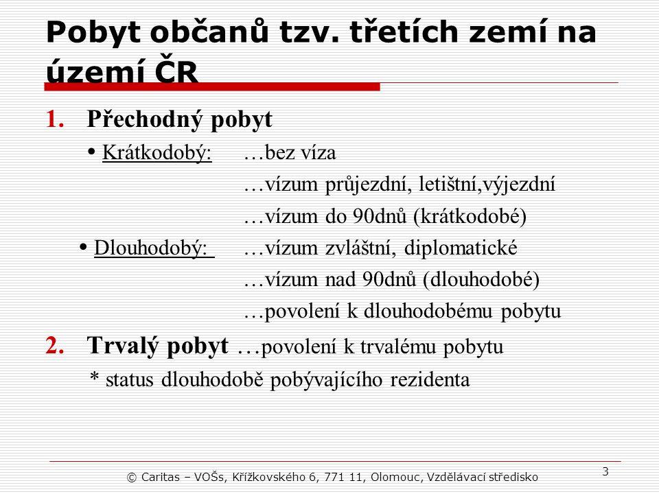 Pobyt občanů tzv. třetích zemí na území ČR
