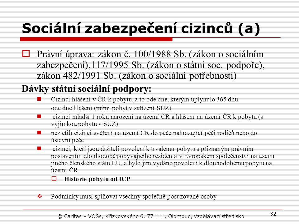 Sociální zabezpečení cizinců (a)