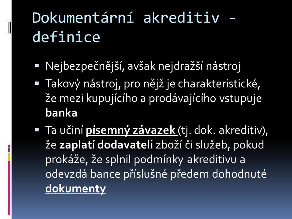Dokumentární akreditiv - definice
