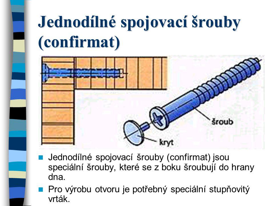 Jednodílné spojovací šrouby (confirmat)