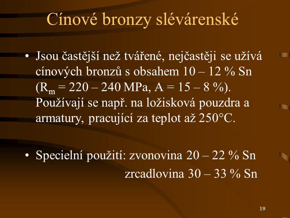Cínové bronzy slévárenské