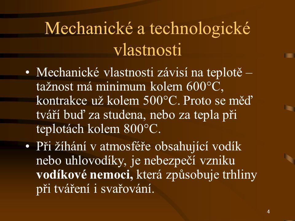 Mechanické a technologické vlastnosti