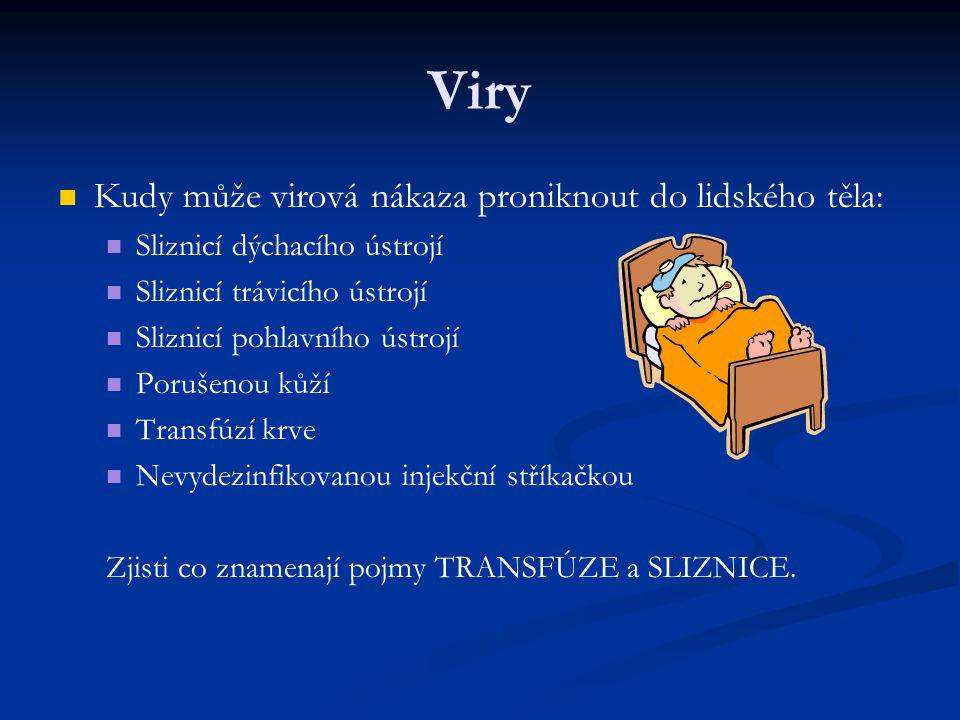 Viry Kudy může virová nákaza proniknout do lidského těla: