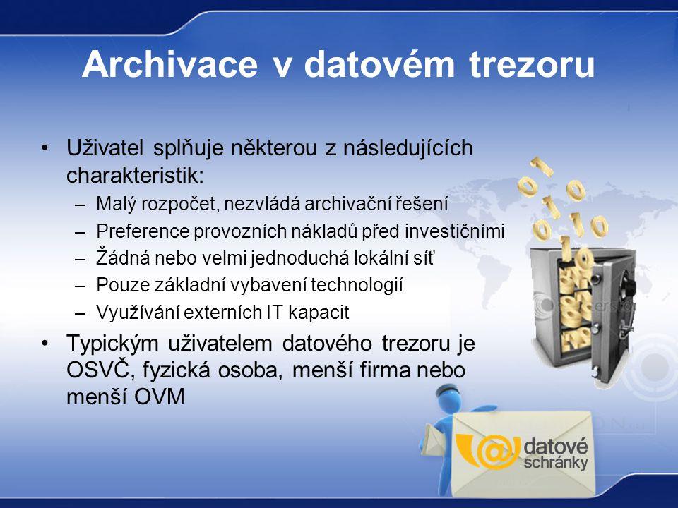 Archivace v datovém trezoru