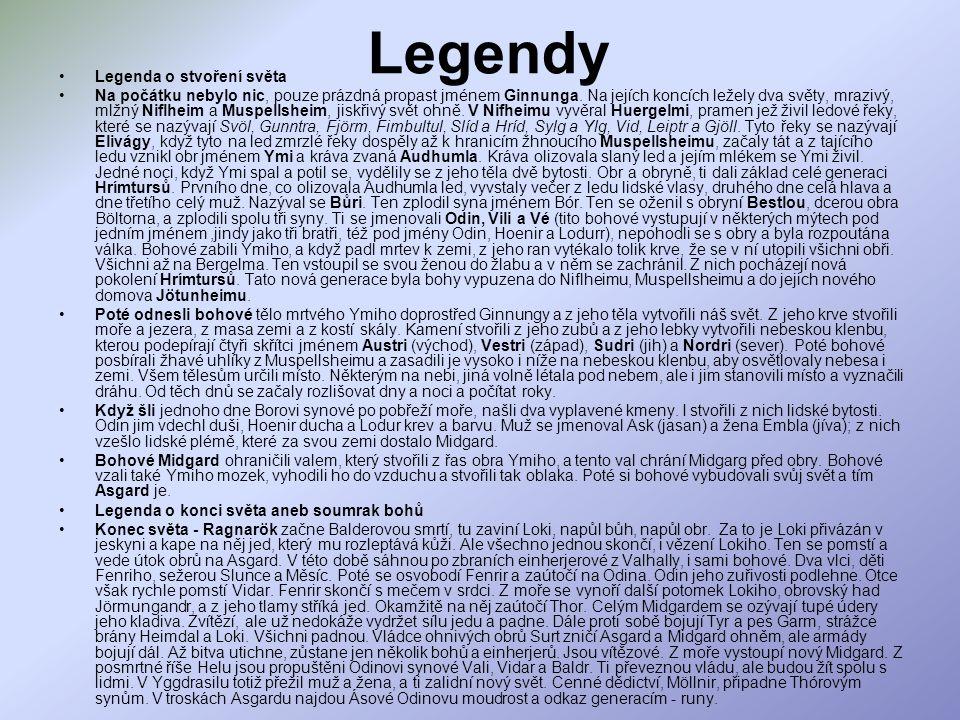 Legendy Legenda o stvoření světa