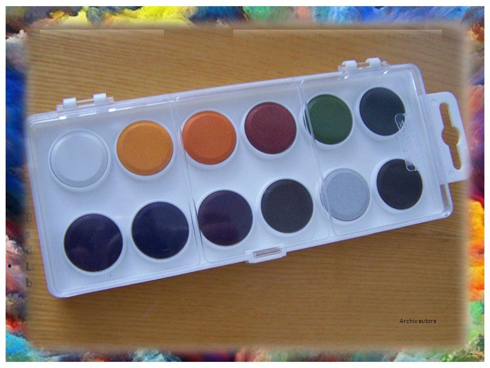 Barvy vodové Anilinové barvy Vpíjí se kvalitně a rychle do materiálu.