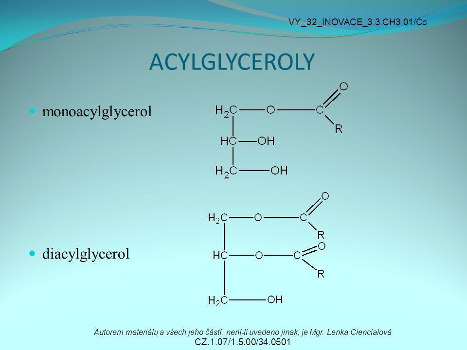 ACYLGLYCEROLY monoacylglycerol diacylglycerol