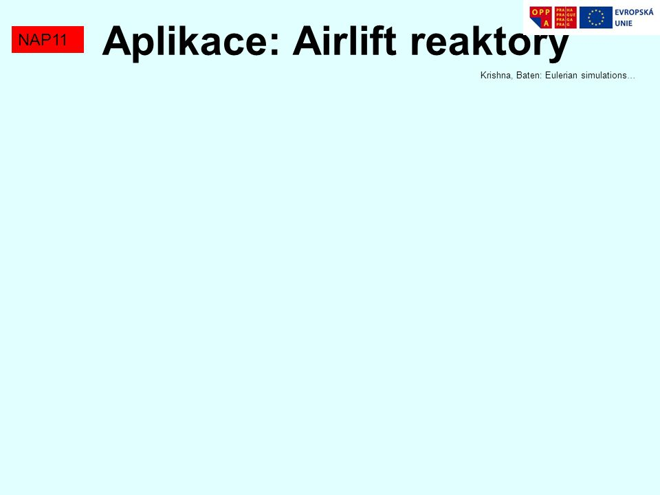 Aplikace: Airlift reaktory