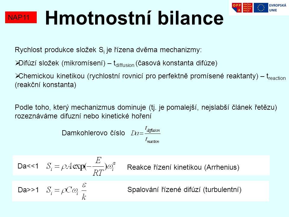 Hmotnostní bilance NAP11
