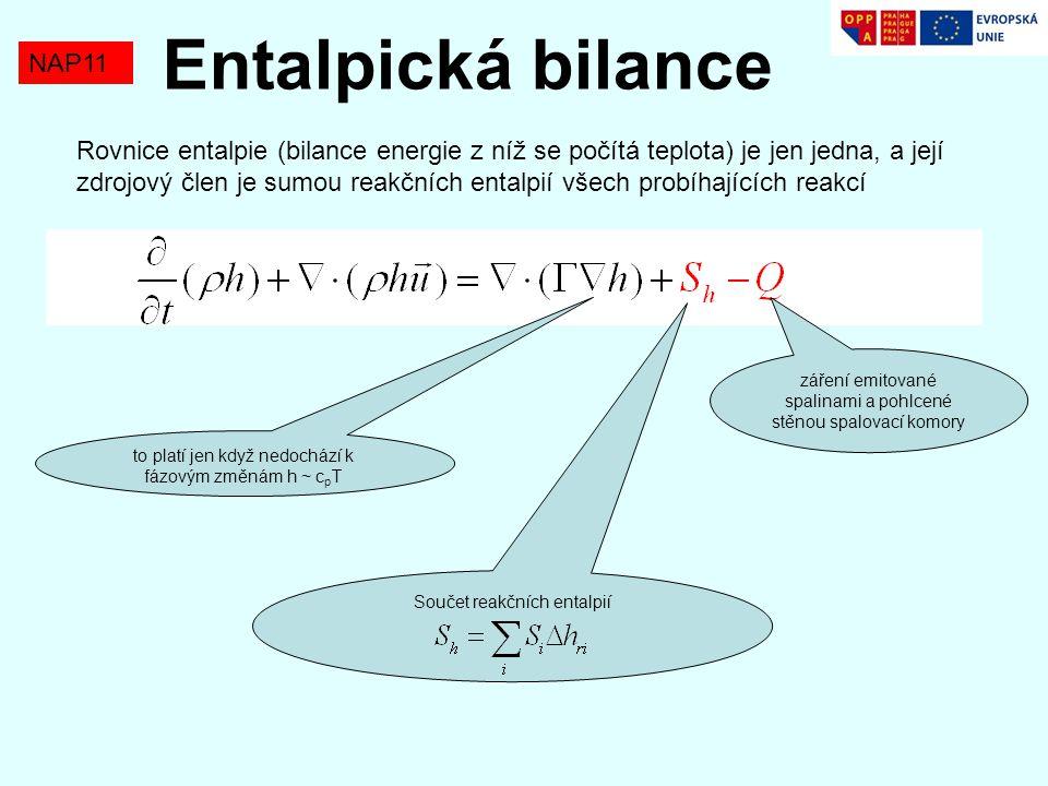 Entalpická bilance NAP11