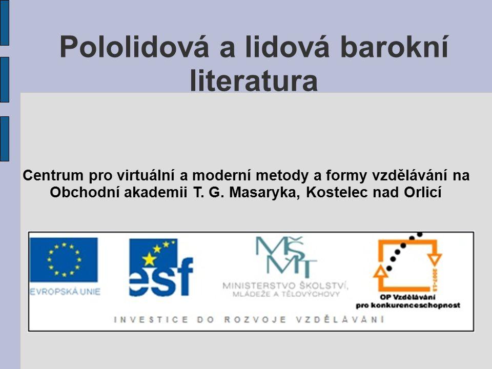 Pololidová a lidová barokní literatura