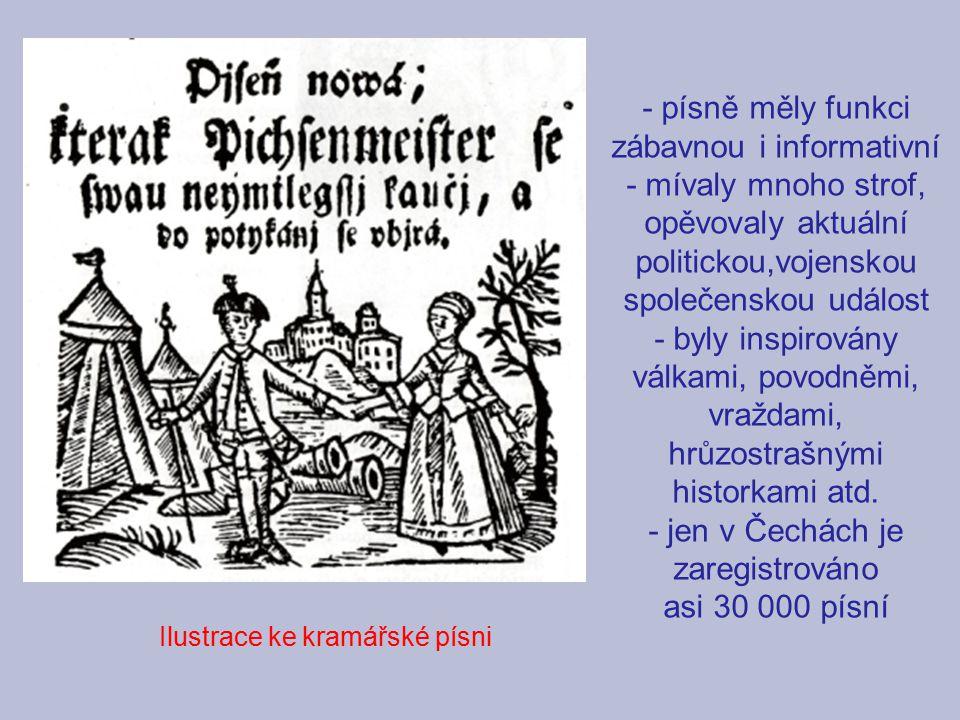 - jen v Čechách je zaregistrováno asi 30 000 písní