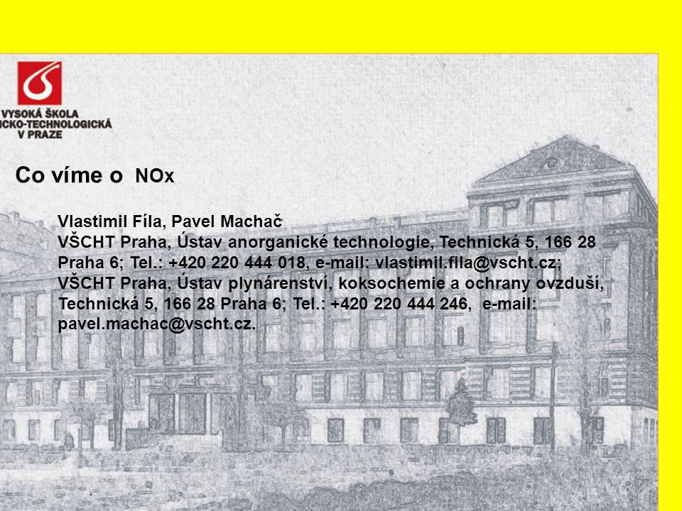 Co víme o NOx Vlastimil Fíla, Pavel Machač