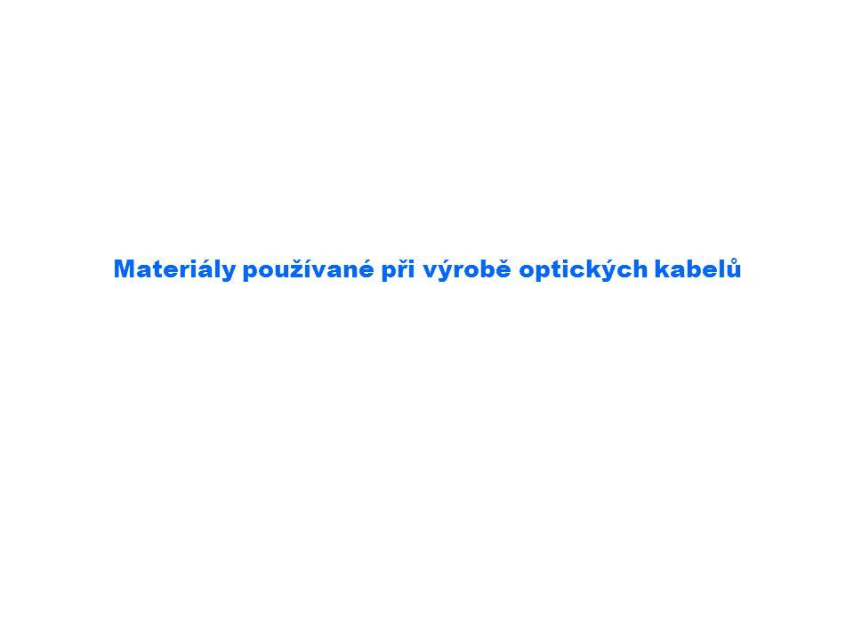 Materiály používané při výrobě optických kabelů