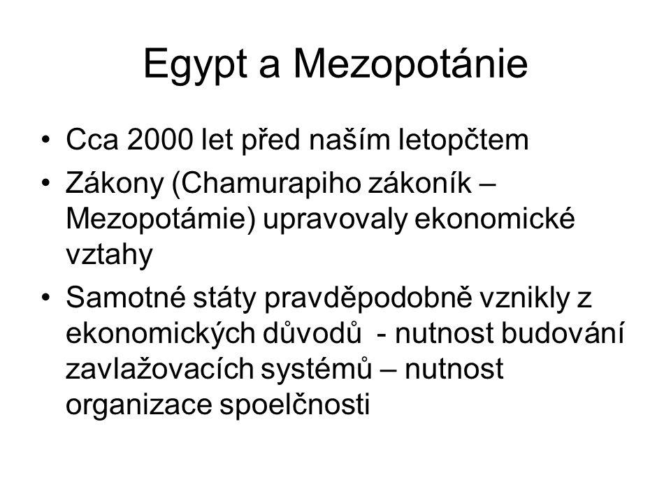 Egypt a Mezopotánie Cca 2000 let před naším letopčtem