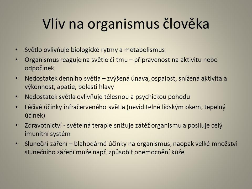 Vliv na organismus člověka