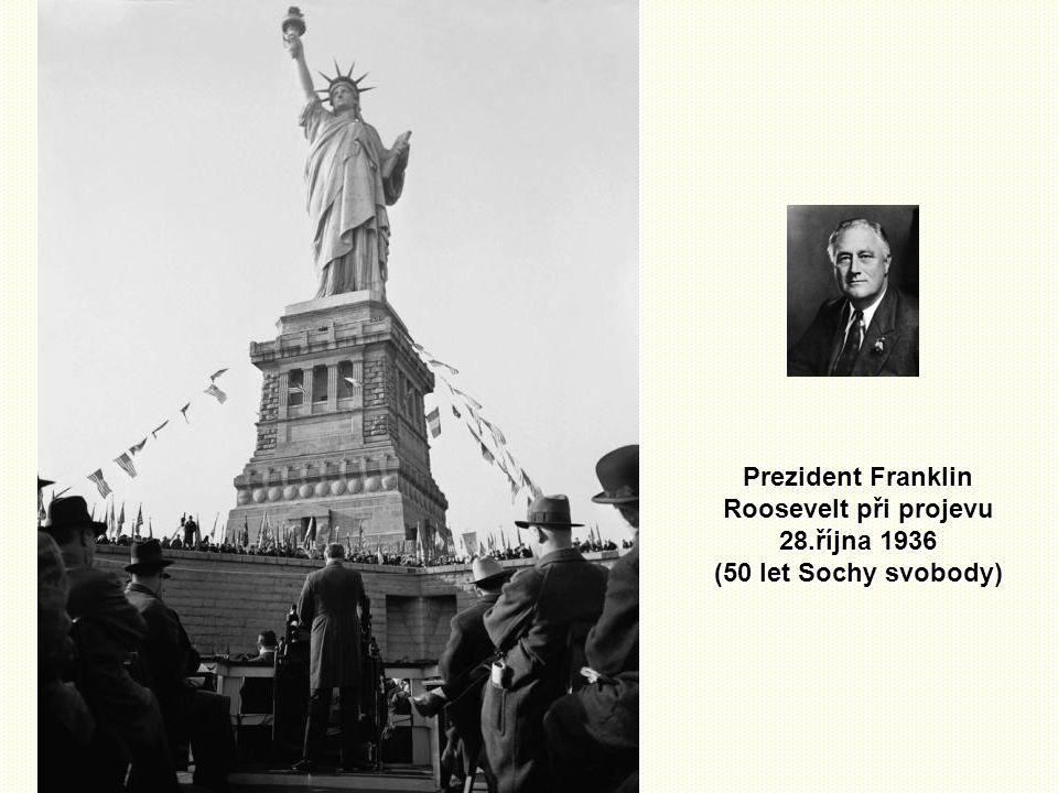 Prezident Franklin Roosevelt při projevu 28