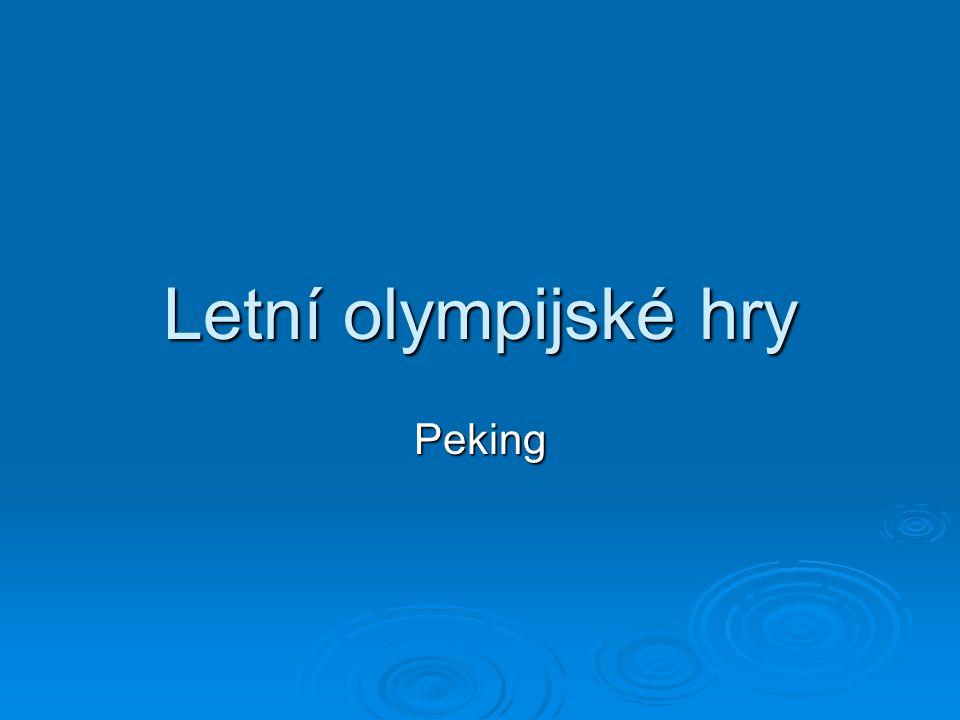 Letní olympijské hry Peking