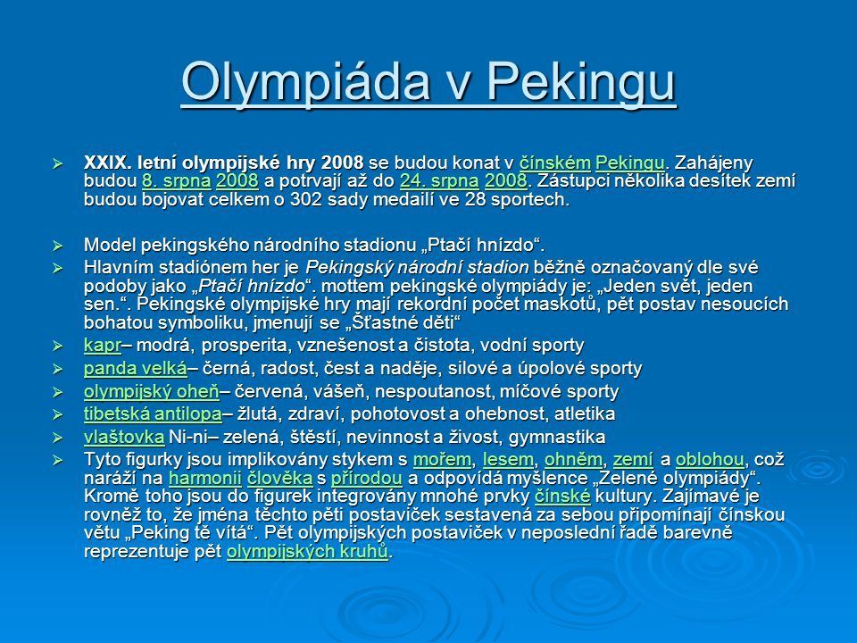 Olympiáda v Pekingu