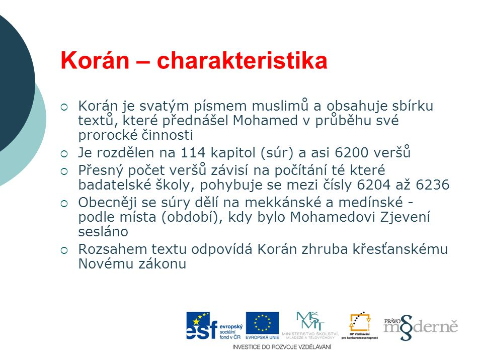 Korán – charakteristika