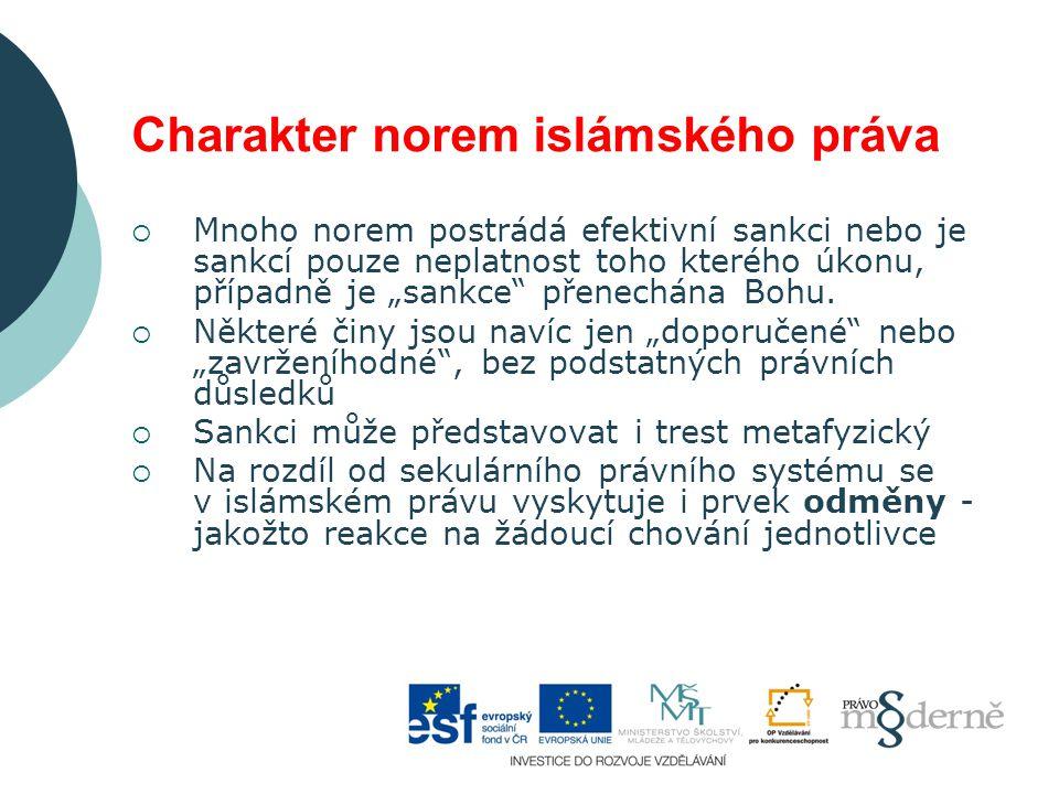 Charakter norem islámského práva
