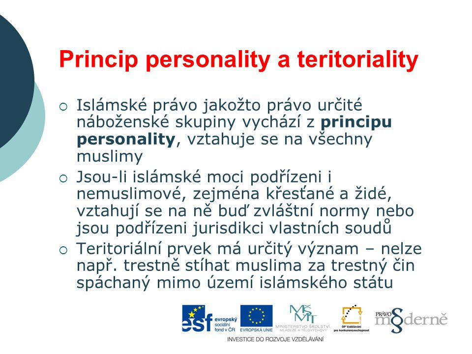 Princip personality a teritoriality