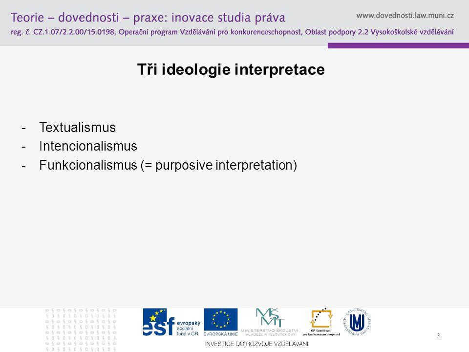 Tři ideologie interpretace