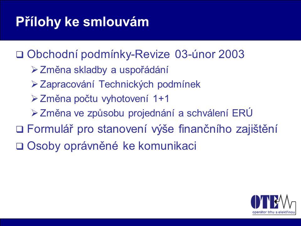 Přílohy ke smlouvám Obchodní podmínky-Revize 03-únor 2003