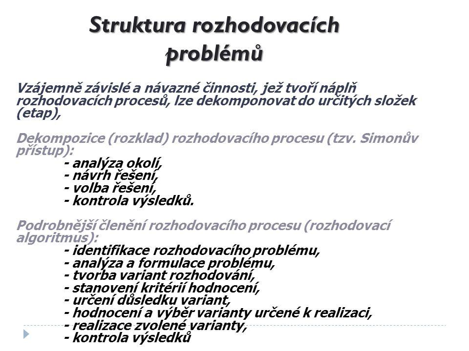 Struktura rozhodovacích problémů