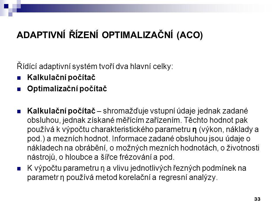 Adaptivní řízení optimalizační (ACO)