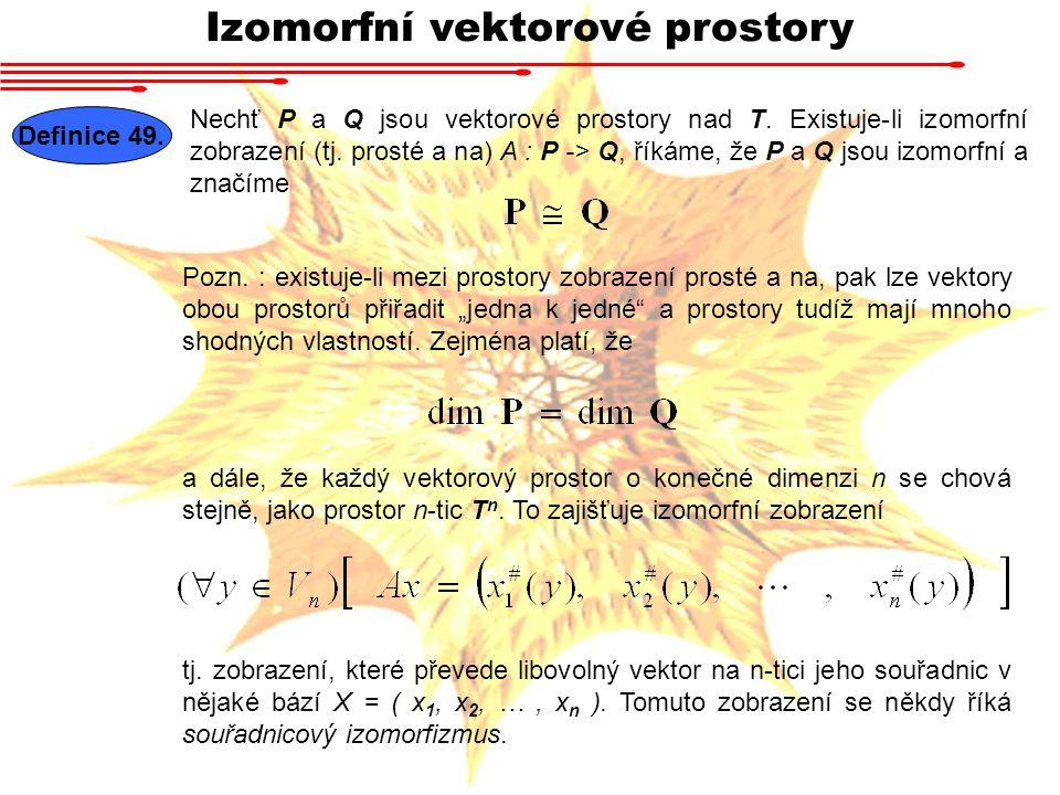 Izomorfní vektorové prostory