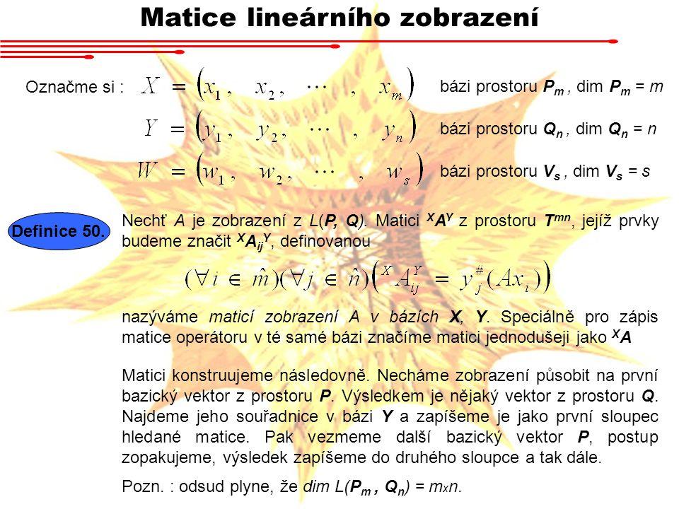 Matice lineárního zobrazení