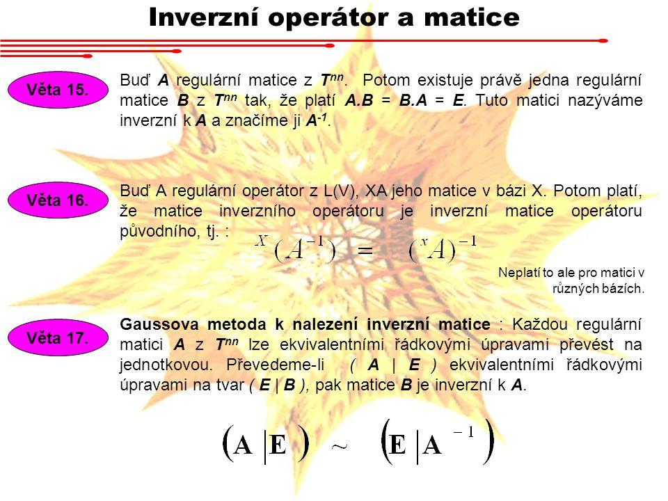 Inverzní operátor a matice