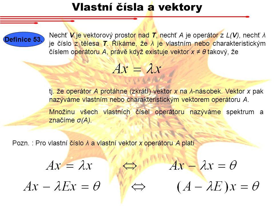 Vlastní čísla a vektory