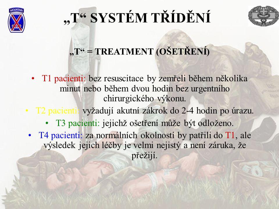 """""""T = TREATMENT (OŠETŘENÍ)"""