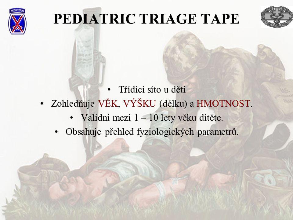 PEDIATRIC TRIAGE TAPE Třídící síto u dětí