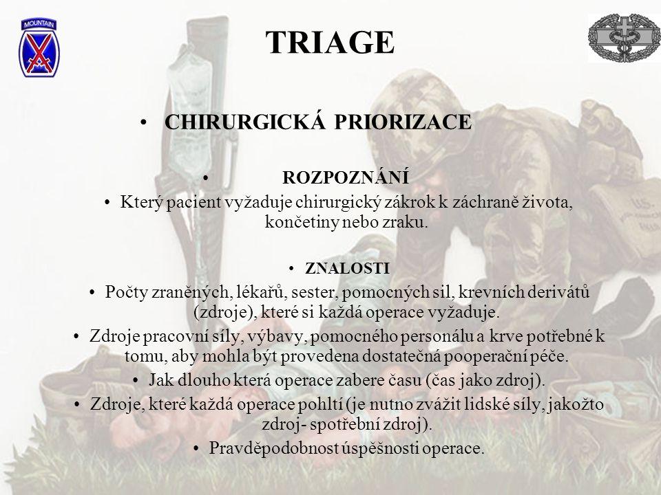 CHIRURGICKÁ PRIORIZACE