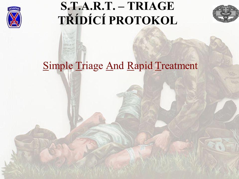 S.T.A.R.T. – TRIAGE TŘÍDÍCÍ PROTOKOL