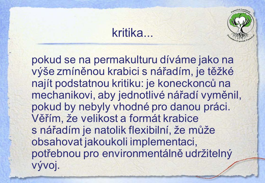 kritika...