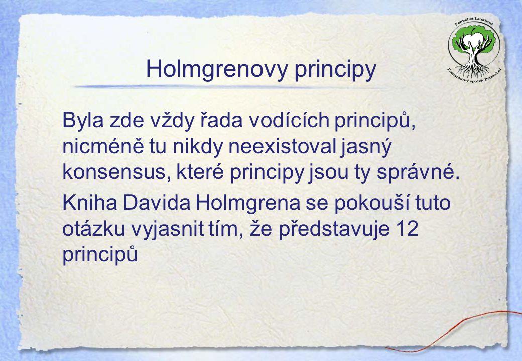 Holmgrenovy principy Byla zde vždy řada vodících principů, nicméně tu nikdy neexistoval jasný konsensus, které principy jsou ty správné.